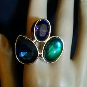 Beautiful multicolor rhinestones ring